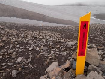 Wandelen in IJsland. foto P. Bliek