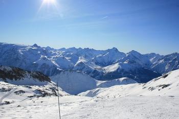 Uitzicht op Les Deux Alpes. foto kimmckelvey