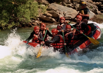 Rafting on Noguera Pallaresa river