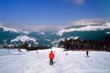 Wintersport op de skipistes in het Krkonošegebergte