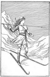 Jagen op de ski
