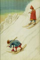 Skiën in Scandinavië in 1767