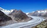 Aletsch gletsjer. Foto Aanjhan Ranganathan