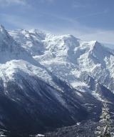 Skiën in Chamonix. Foto ski paradise