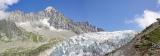 Gletsjer Haute-Savoie Frankrijk.
