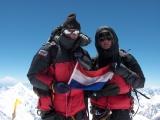 atja en Henk op de top van Gasherbrum 1 (8068m)