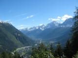 Op weg naar Col de Voza, uitzicht op Les Houches en Chamonix. Foto Constantijn K