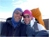 Marcel en Nicole tijdens de oversteek van de Hardangervidda 2012