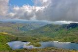 Mike Peel. Uitzicht Snowdonia over Llyn Llydaw