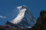 Matterhorn gezien vanuit Zermatt. Foto Fenneke Visscher