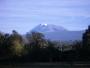 De top van de Kibo, de hoogste van drie vulkanen van de Kilimanjaro.