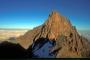 De top van Mount Kenya in Kenia