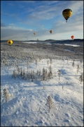 Arctic Hot-Air Balloon Adventure. Foto's Michiel van Nimwegen