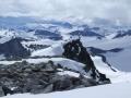 Pudelek. Uitzicht vanaf de Galdhøpiggen over Jotunheimen