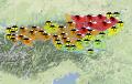 Lawinegevaar in de Oostenrijkse Alpen