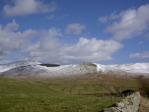 The Cheviots, een berggebied in de Cheviot Hills bij de Schotse grens. Foto Bods