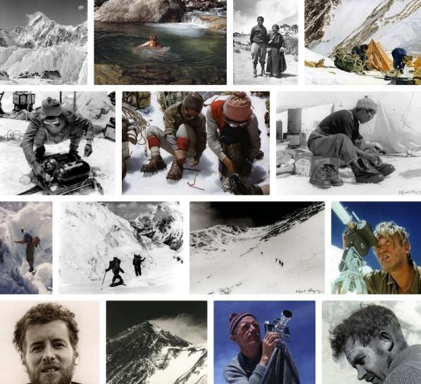 Foto's van de eerste Mount Everest beklimming (via twitter.com/Everest1953)