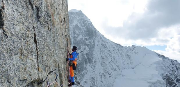 Stephan Siegrist op de Cerro Kishtwar