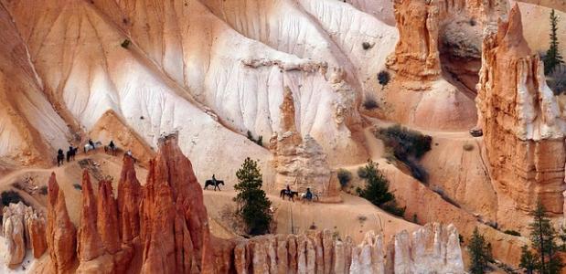 Paardrijden door de bergen