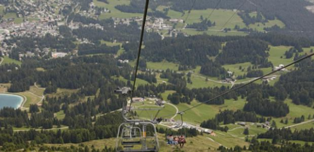 Kabelbaan in de bergen