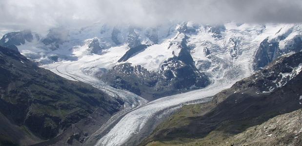 smeltende gletsjers Alpen