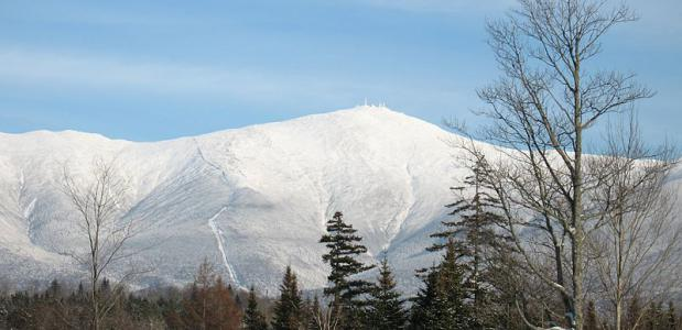 Mount Washington vanuit Bretton Woods Foto door wwoods via Wikipedia