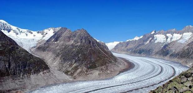 Aletsch gletsjer. foto Ranganathan