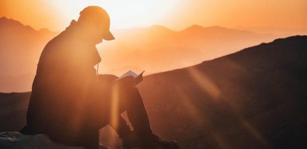 Lezen in de bergen