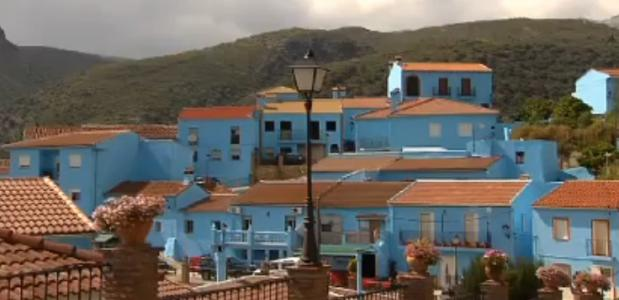 Het blauwe smurfendorp in Malaga