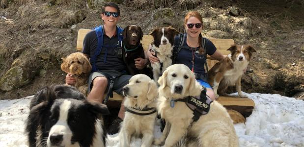 bergwandelen in Italië met de hond