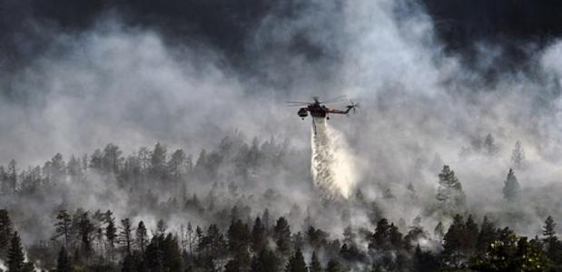 brand Jochberg in Beieren door wandelaars