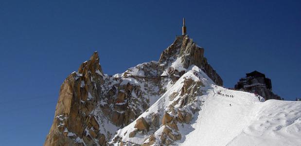 Chamonix Vallée blanche Aiguille du midi. Foto phileole
