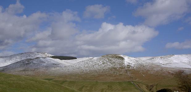 The Cheviots - een berggebied in de Cheviot Hills bij de Schotse grens. Foto Bods