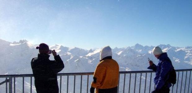 Wintersporters in Engelberg