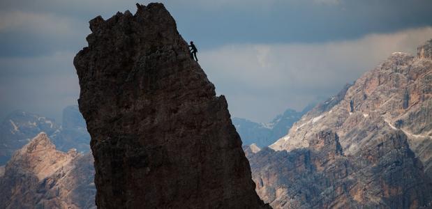 De eenzame klimmer
