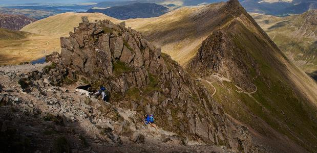 Frank Peters Verhaal achter de foto:Striding Edge - Helvellyn - Lake District