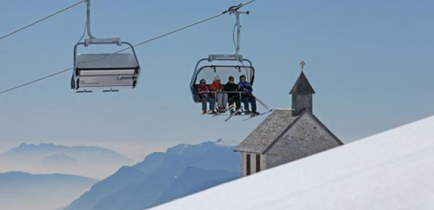 Wintersport in Zuid-Tirol. Foto Frieder Blickle