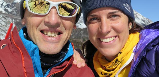 Simone Moro en Tamara Lunger Foto The North Face