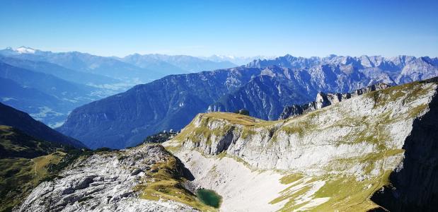 Wandeltoppen in de Alpen
