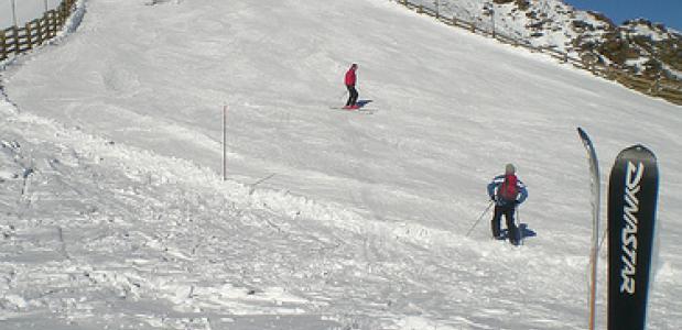 De piste van skigebied Isola 2000 in Frankrijk