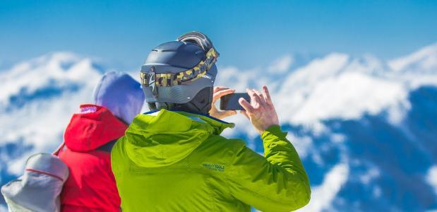 Telefoon tijdens wintersport