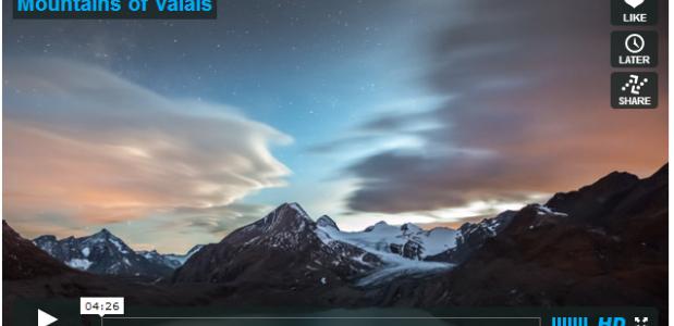 Mountains of Valais - timelapse Christian Mulhauser - VImeo