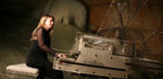 Muziek in ijsgrot. foto dachstein-salzkammergut