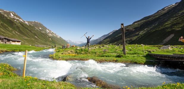 wandelroutes in de regio Davos Klosters