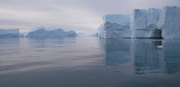 IJsbergen in zee