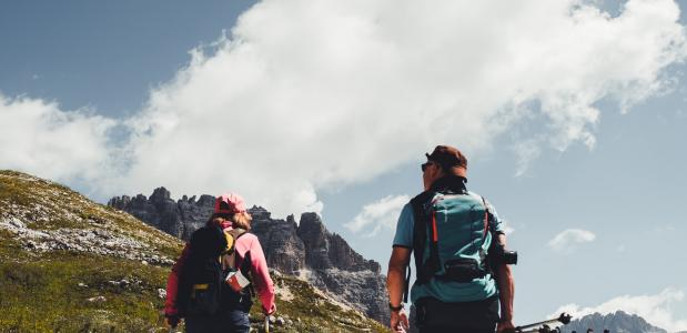 genieten bergwandeling
