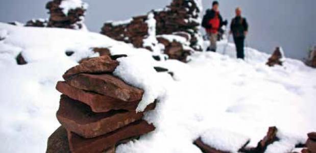 Winterwandelen in het Sarntal. foto Jonathan Vandevoorde