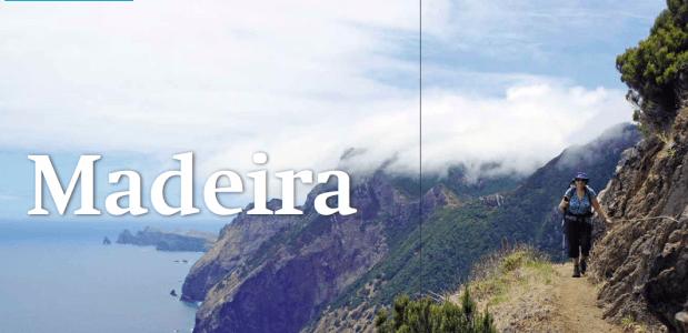 Wandelen op vulkaaneiland Madeira - Portugal. Foto Bert Vonk