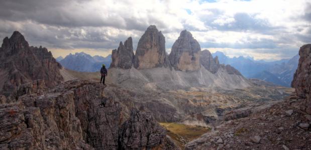 Klettersteigen bij de Drei Zinnen - Sextner Dolomieten. Foto Jonathan Vandevoorde