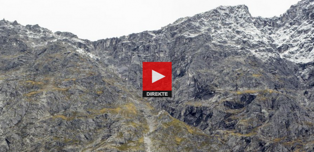Bekijk de webcam met de instabiele berg Mannen in Noorwegen